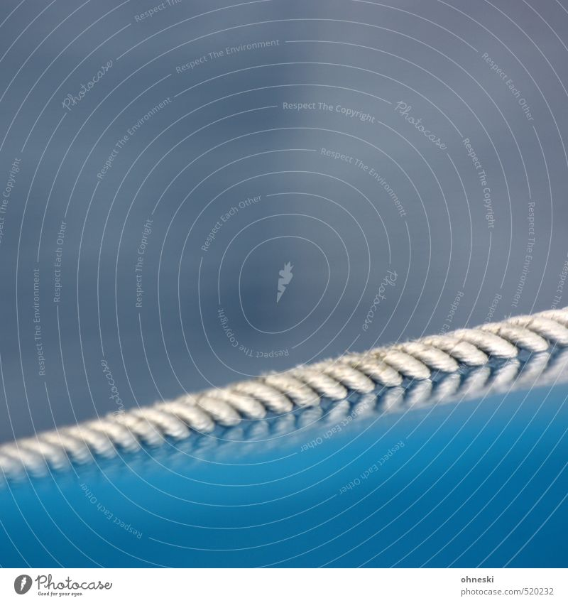 rope team Navigation Boating trip Rope String Line Blue Colour photo Exterior shot Abstract Pattern Structures and shapes Copy Space top Copy Space middle