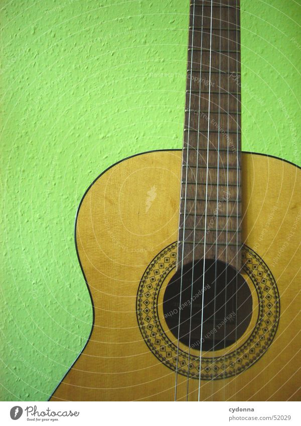 my guitar Musical instrument string Leisure and hobbies Green Still Life Wood Sound Things Concert Guitar Detail Tone Joy