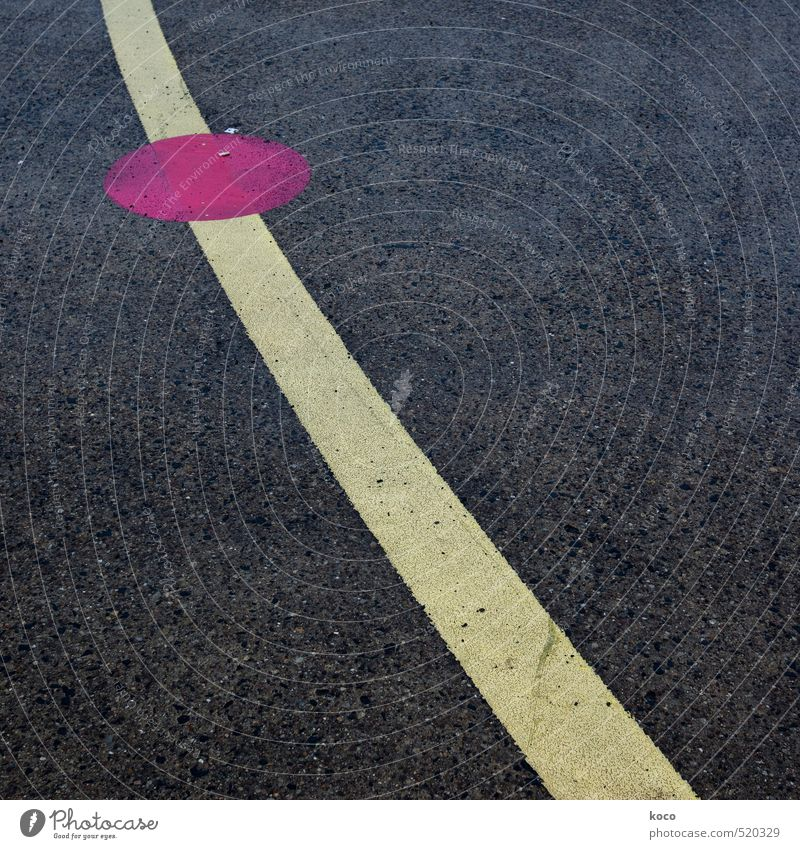 Spot landing. Traffic infrastructure Road traffic Street Crossroads Lanes & trails Airport Airfield Runway Concrete Line Point Simple Long Round Yellow Pink