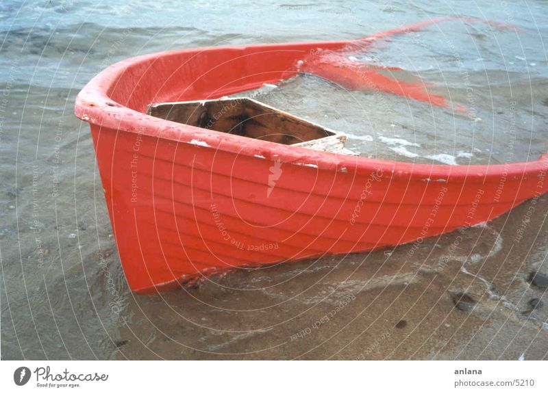 Water Ocean Red Beach Sand Watercraft Fishing boat Stranded