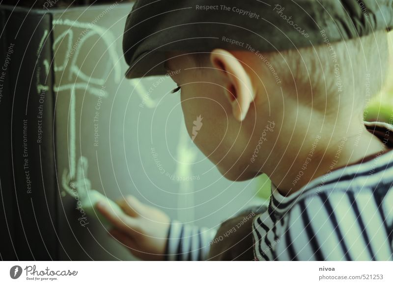 Human being Child Hand Graffiti Wall (building) Meadow Boy (child) Wall (barrier) Head Line Art Leisure and hobbies Masculine Blonde Infancy Places