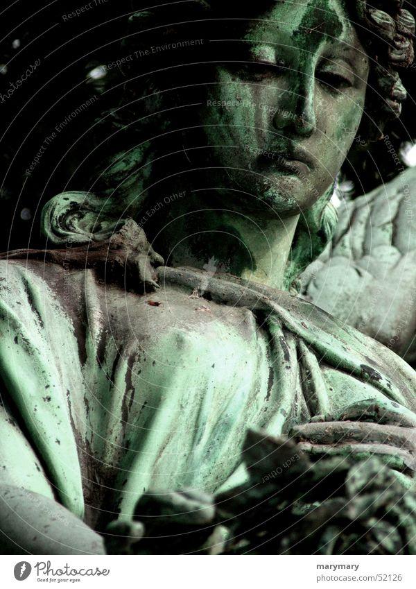 Sadness Rose Grief Angel Statue Cemetery Grave Fishing rod Arizona Bronze Tomb Tombstone, AZ