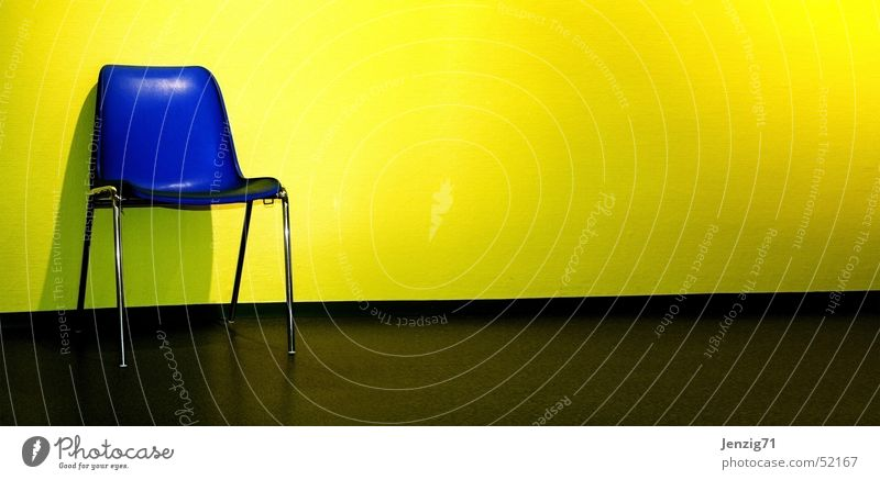 Blue Yellow Wait Time Sit Chair Hallway Seating Public agencies and adminstrations Last