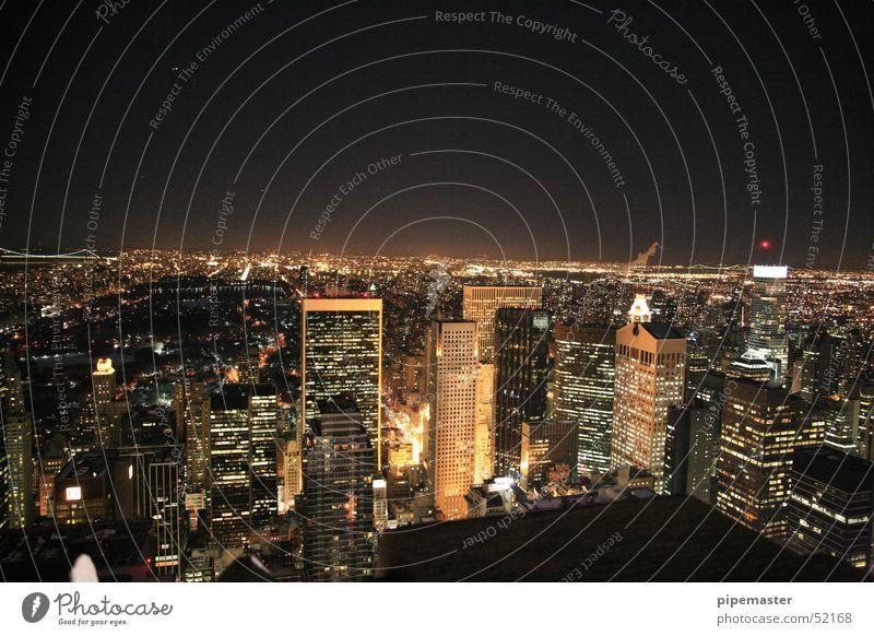 New York City Night shot Rockefeller Center