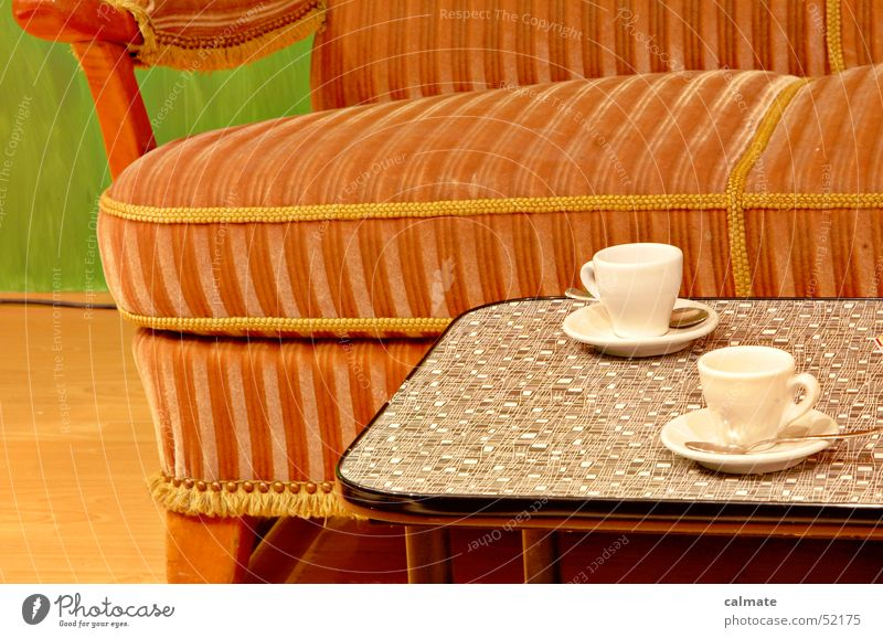 Relaxation Table Retro Break Cup Sofa Nostalgia Seating Seventies Former Sixties Coffee cup To have a coffee