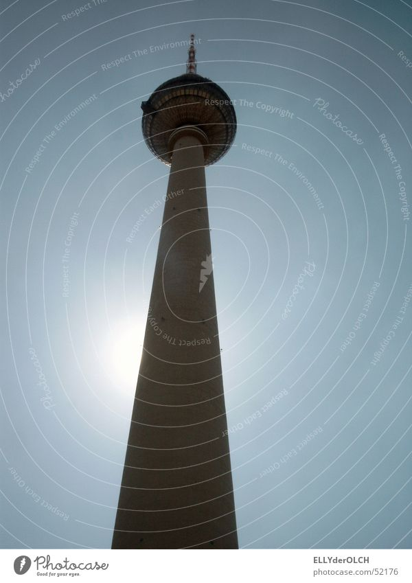 Berlin Television Tower Worm's-eye view Berlin TV Tower Backlight