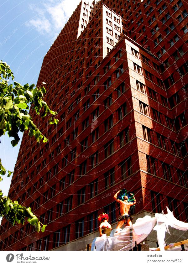 CSD Berlin 2002 Potsdamer Platz High-rise Christopher Street Day Architecture