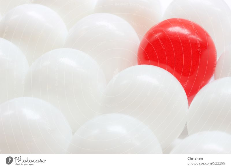 White Red Playing Style Exceptional Bright Art Elegant Success Design Modern Esthetic Simple Change Uniqueness Round