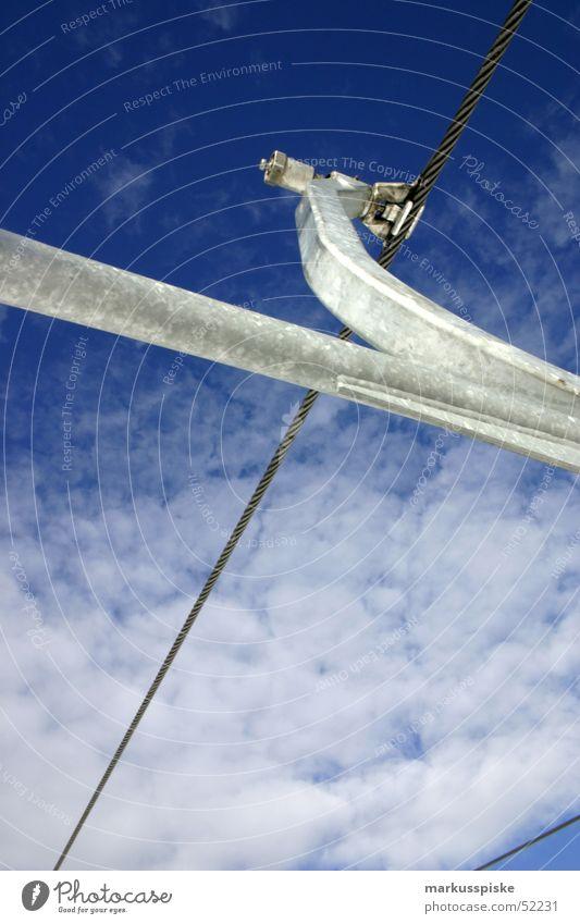 Sky Clouds Snow Metal Rope Logistics Alpine Chair lift
