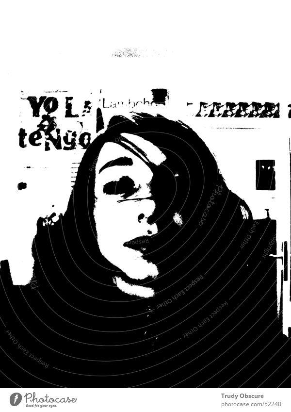 Woman Human being Girl Eyes Music Door Image Poster Door handle Child