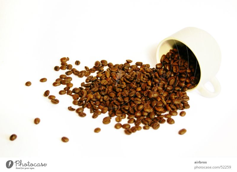 White Bright Brown Coffee Café Cup Espresso Beans Cappuccino Coffee bean