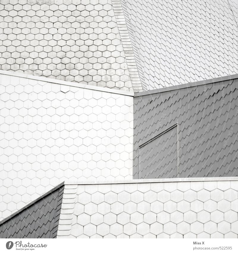 White Architecture Building Roof Manmade structures Sharp-edged Roofing tile Honeycomb Honeycomb pattern
