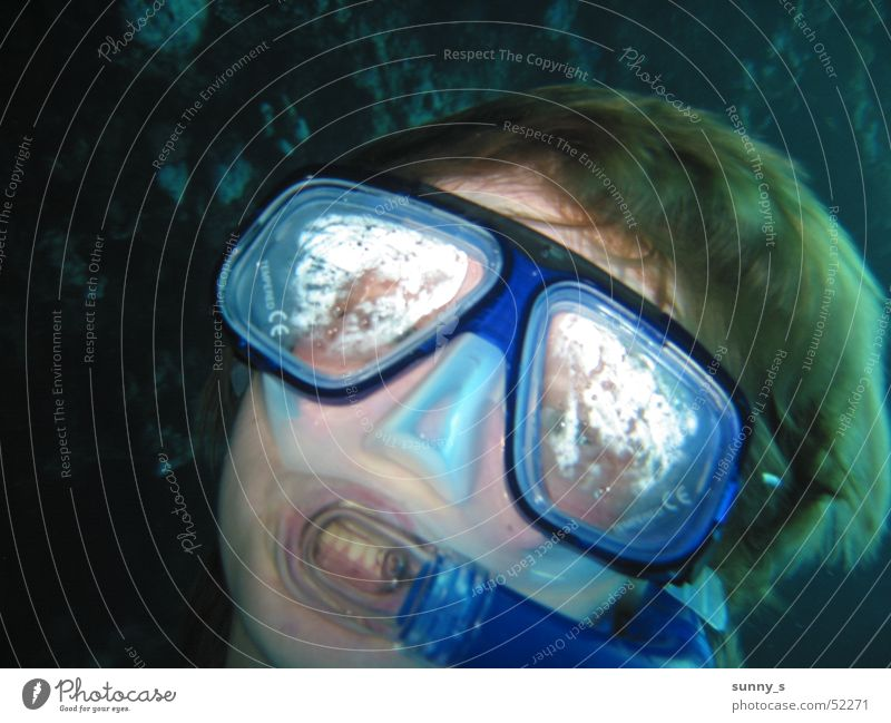 Dive Self portrait Snorkeling Diving goggles