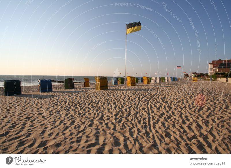 Beach Wyk on Föhr Wyk auf Föhr Fohr Beach chair Morning Sandy beach Dawn