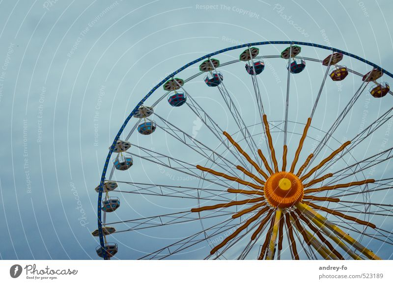 Ferris wheel Leisure and hobbies Illuminate To swing Round Town Joy Fear of heights Adventure Movement Symmetry Radius Sphere Fairs & Carnivals