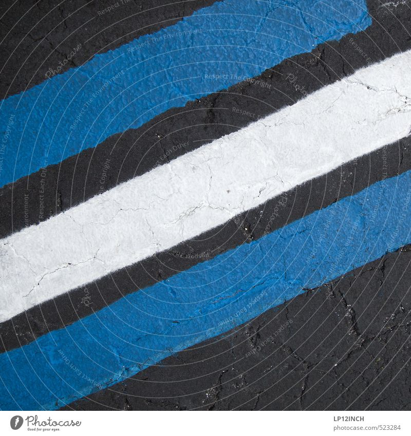 Blue City White Black Environment Street Movement Lanes & trails Art Signs and labeling Design Signage Stripe Retro Driving