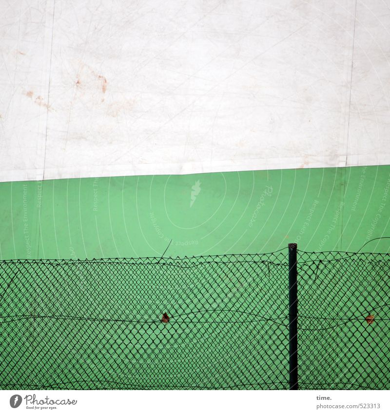 Small tennis, only more Hamburg Hall Tent Tarpaulin Wall (barrier) Wall (building) Facade Fence Fence post Wire netting Wire netting fence Metal Plastic Net