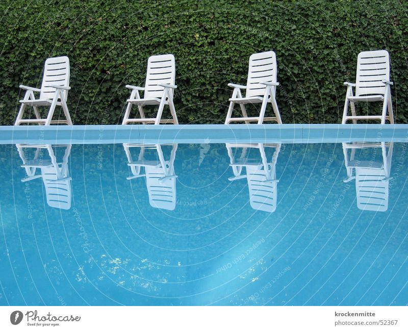 a hint of hockney Swimming pool Green Leisure and hobbies Calm Vacation & Travel Hotel Garden chair Reflection Hedge Italy Water Chair Blue Camping chair