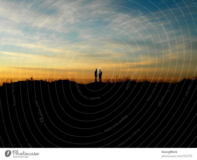 Woman Sky Man Winter Loneliness Love Happy Sadness Couple Friendship 2 Horizon Together In pairs Grief Skyline