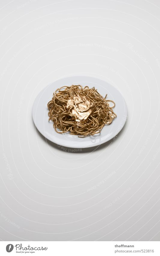 golden food Food Spaghetti Healthy Eating Dish Food photograph Sauce Ketchup Tomato sauce Gold Supermarket Food colouring Squander Organic produce