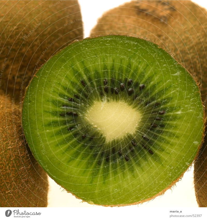 kiwi Kiwifruit Kernels & Pits & Stones Black Green Juicy Healthy Vitamin C Light table Spoon Bowl create Fruit Anger Funny furry hand-sized