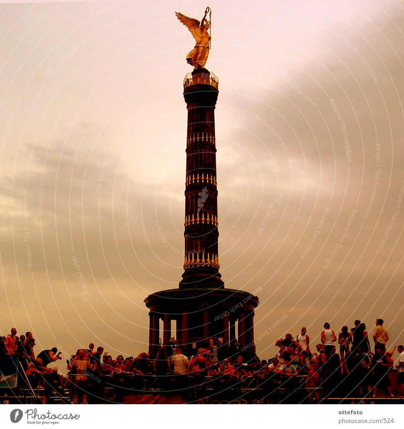 Human being Berlin Victory column Love Parade
