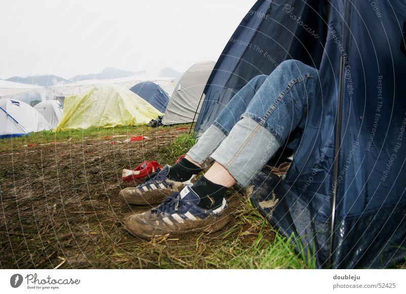 rest Outdoor festival Tent Summer Footwear Music festival Legs Feet Earth Dirty chiemsee reggae summer 2005