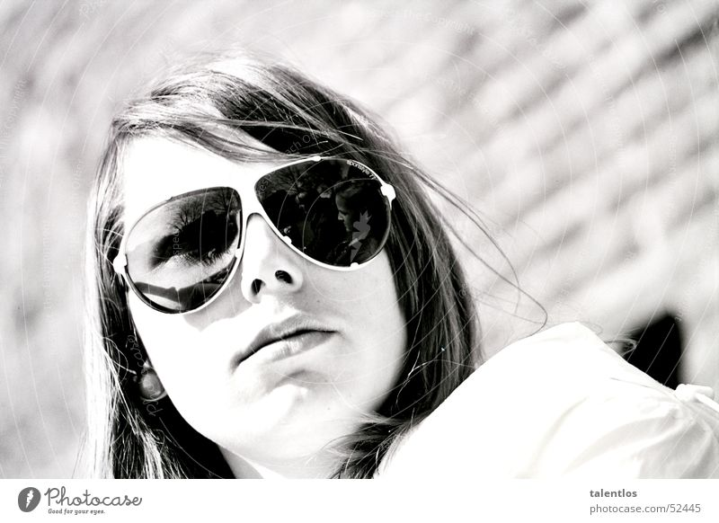 Woman White Sun Summer Black Retro Sunglasses Old-school Flying goggles