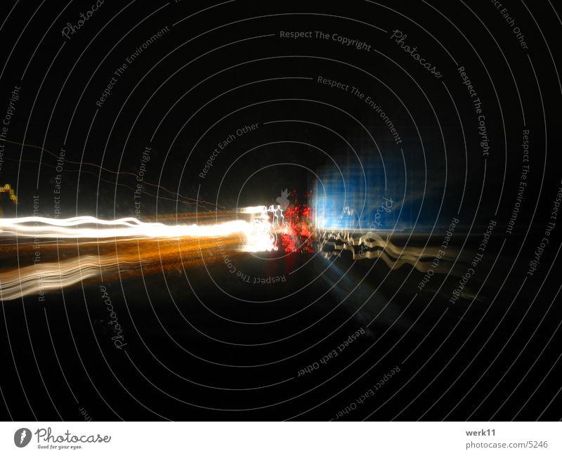 14 seconds A4 Long exposure Night Highway Dark Speed Transport Light