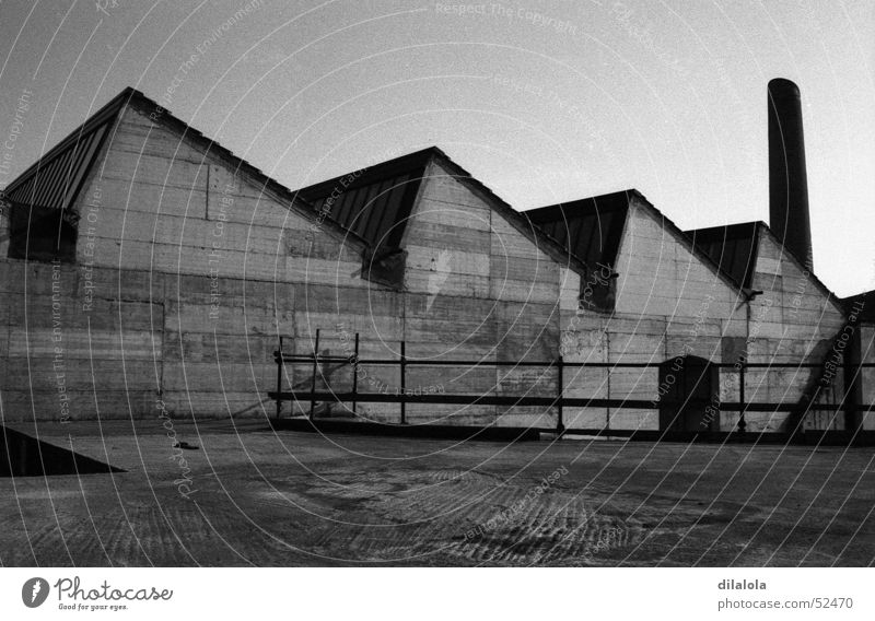 factory Town Industrial Cloth exterior fabric Black & white photo tecnology landscape works from outside (outside) Black and white Work and employment