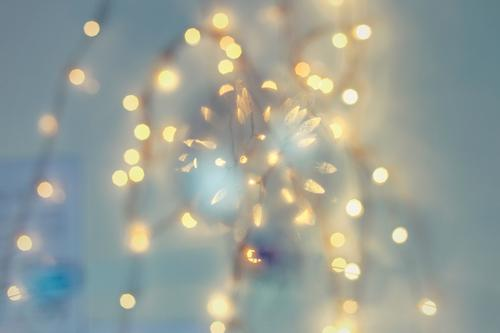 lights Elegant Feasts & Celebrations Christmas & Advent New Year's Eve Blue Fairy lights Moody Sphere Hover Colour photo Interior shot Studio shot Detail