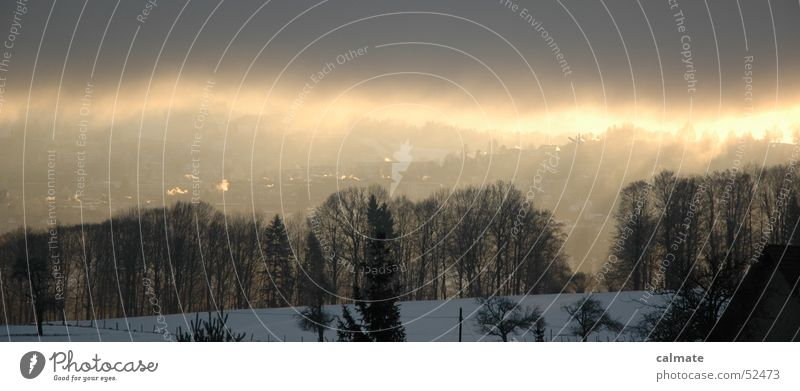 Nature Sun Winter Snow Weather Federal State of Styria Edge of the forest Saint Gallen Fog cloud