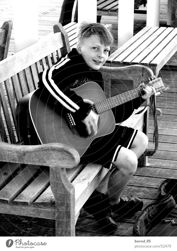 Boy (child) Music Guitar Talented Child Busker