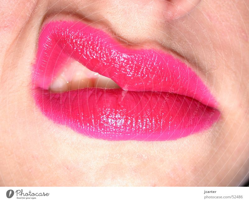 Woman Red Face Mouth Pink Skin Teeth Lips Kissing Anger Passion Make-up Relationship Aggravation Lipstick Pout