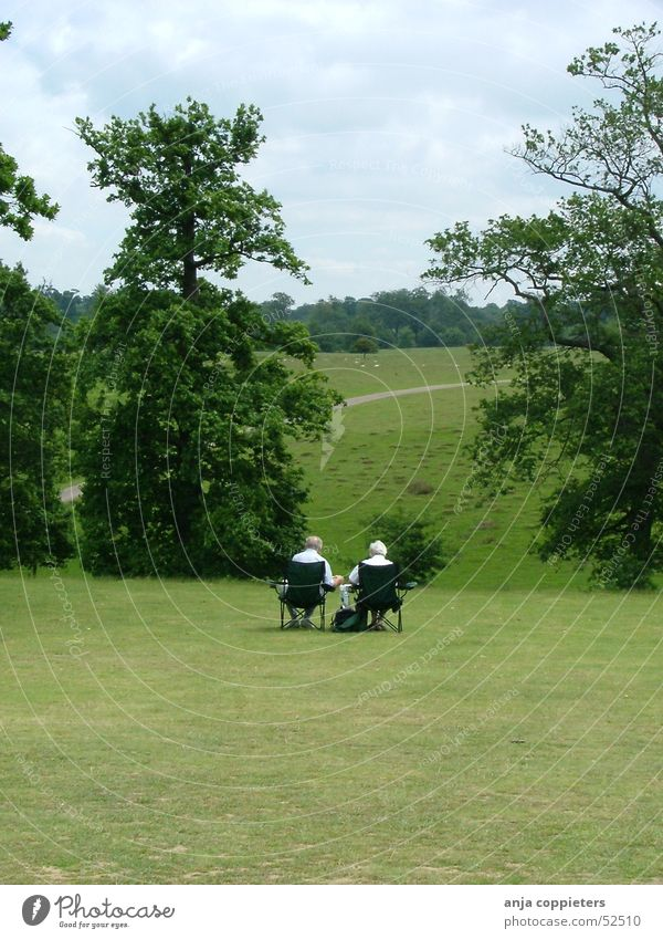 An afternoon in the park Park Green Human being grass chairs Sit