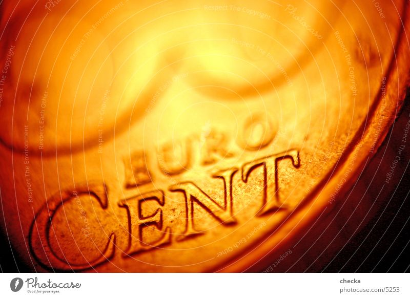 EuroCent Coin Money Financial Industry Stock market Things Macro (Extreme close-up) Financial institution