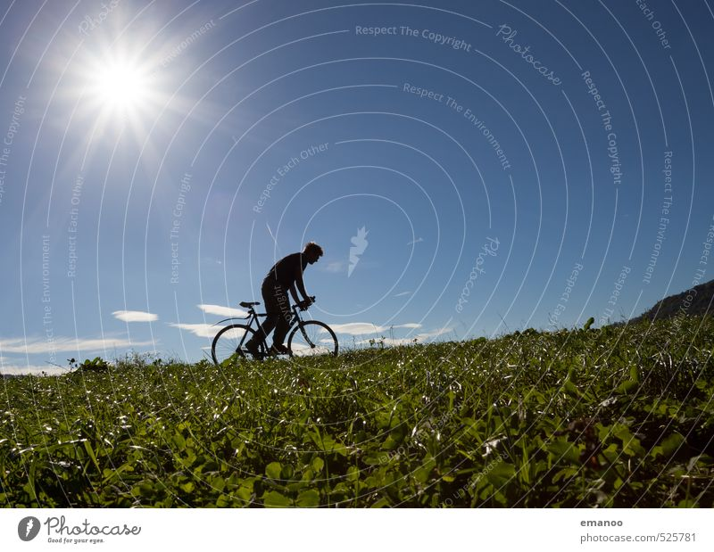cyclistic II Style Joy Vacation & Travel Trip Freedom Cycling tour Summer Sun Mountain Sports Human being Man Adults Body 1 Nature Landscape Sky Climate Weather