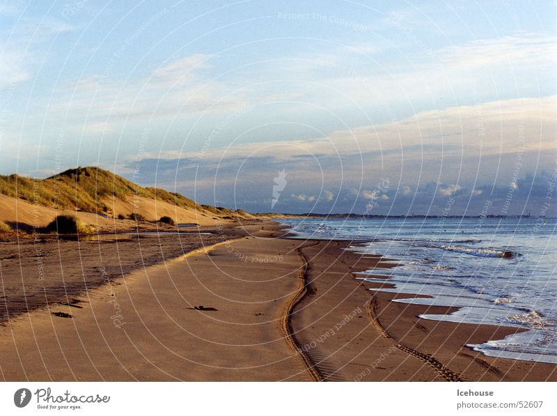 Morning mood at the sea Sunrise Ocean Beach Denmark North Far-off places Beach dune Baltic Sea