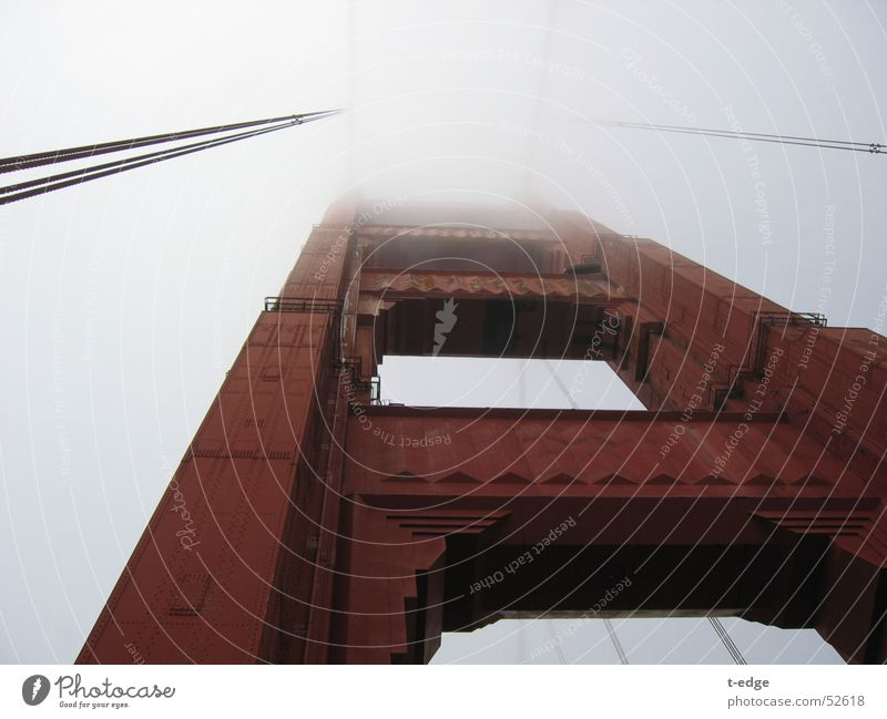 Fog Bridge USA California San Francisco Golden Gate Bridge