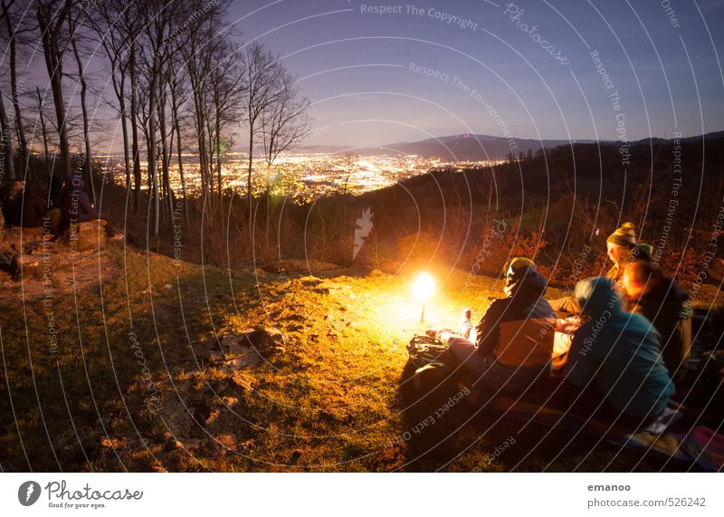 why at night? Lifestyle Style Joy Leisure and hobbies Vacation & Travel Trip Adventure Freedom Expedition Camping Winter Hiking Human being Woman Adults Man
