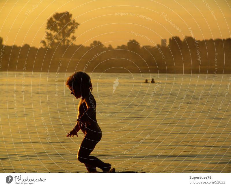 Family Child Girl Beach Summer Playing Sun Water rhei River