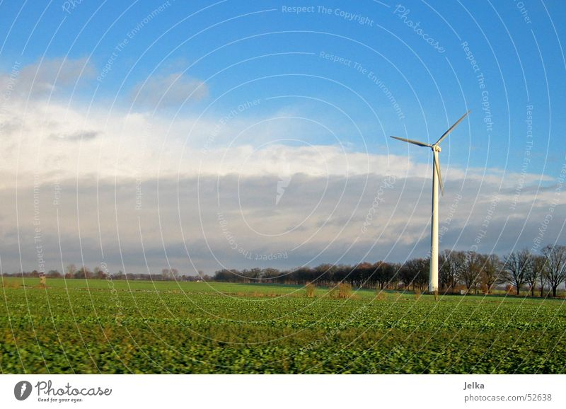 Brandenburg Wind energy plant Sky Clouds Grass Meadow Field Wanderlust Electricity generating station landscape fields cloud Colour photo