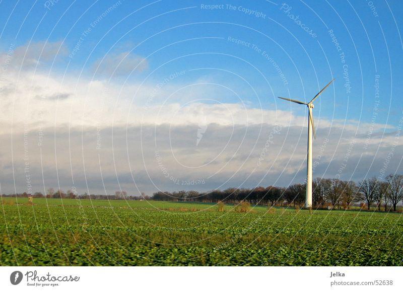 Brandenburg Wind energy plant Sky Clouds Grass Meadow Field Wanderlust Electricity generating station landscape fields cloud Colour photo