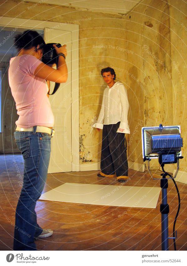 Photographer Villa Photo shoot Construction lights Fashion collection