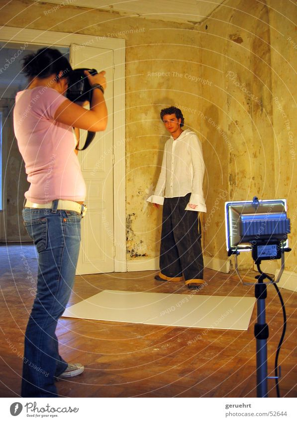 Photographer Villa Photo shoot Construction lights Fashion collection