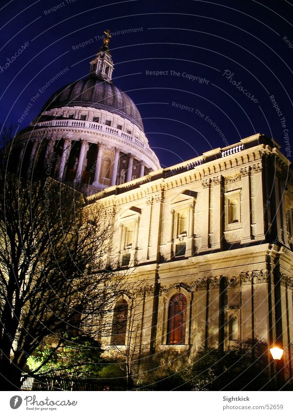 St. Paul's 2 St. Paul's Cathedral London England Religion and faith Prayer Domed roof Light Night Building Evening