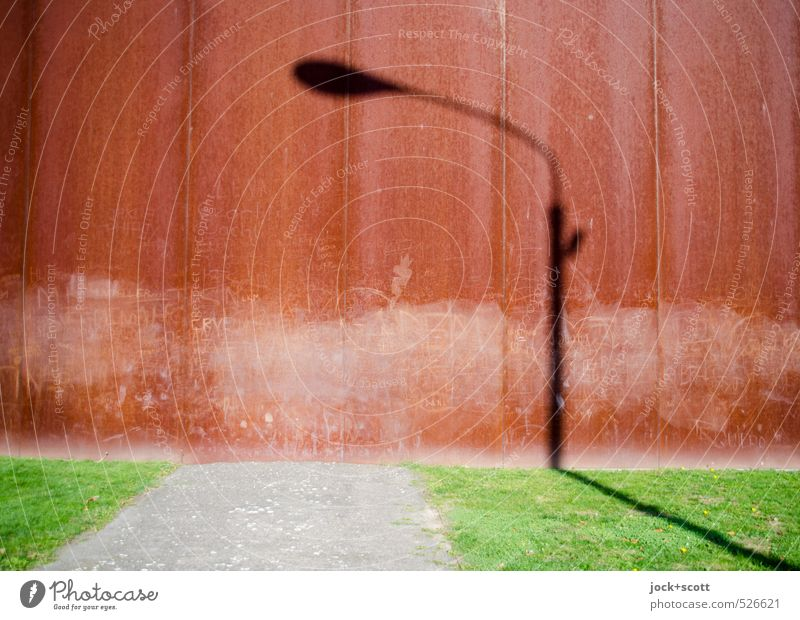 Lantern light during the day Tourist Attraction Monument The Wall Lanes & trails Exceptional Past Time Shadow play GDR No man's land Graffiti Illusion