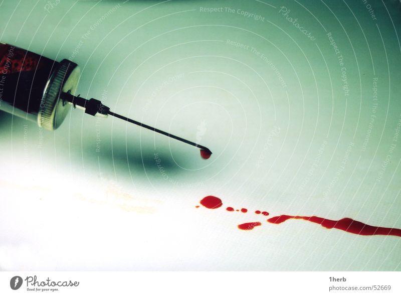 splashed blood Syringe Blood Patch