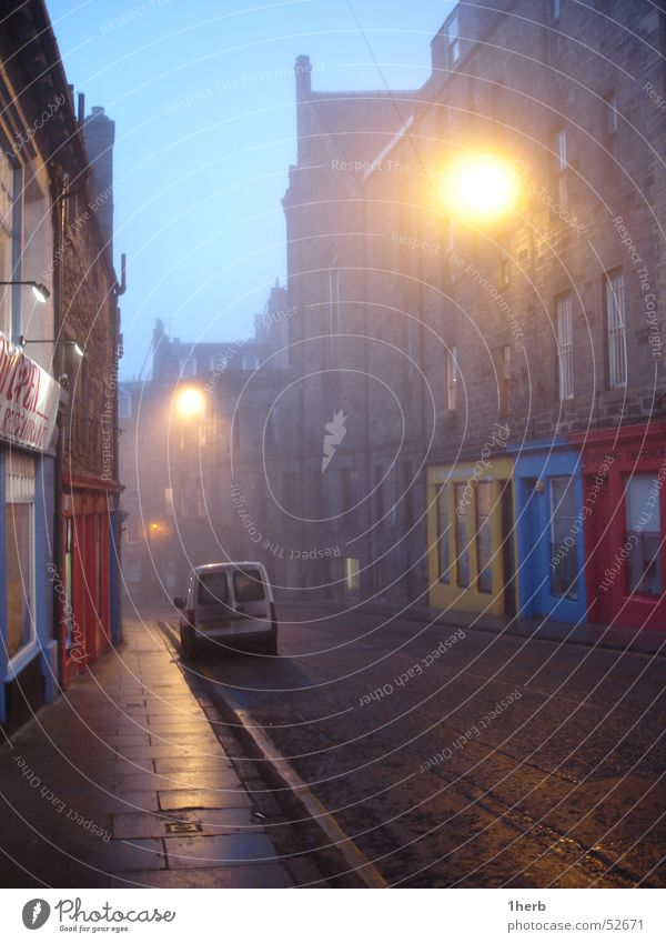 Street Cold Fog Alley Scotland Bad weather Comfortless