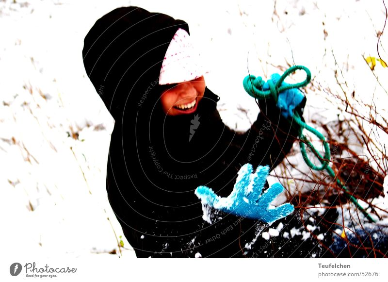 Devil herself Woman Winter Tree Bushes Cold Sledding Snow Laughter Traffic accident